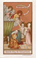 Santino Nuovo SANTA ALIX DI SCHAERBEEK - Ristampa Tipografica Da Santino Antico - PERFETTO F45 - Religione & Esoterismo