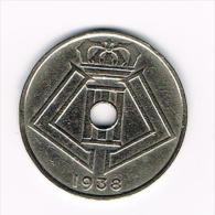 - LEOPOLD III  25 CENTIEM  1938  FR/VL - 1934-1945: Leopold III