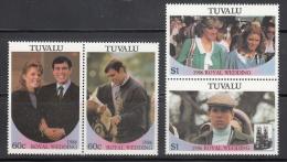 Tuvalu  Scott No.  381-82  Mnh  Year  1986  Pairs - Tuvalu