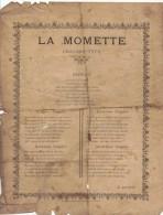 Partitions Roubaix La Momette Rue De L Epeule R  BACROT - Partitions Musicales Anciennes