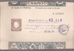 España, 2T, PAGOS AL ESTADO, 50 Pts. (bis) - Fiscales