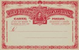 Honduras 1900?, 3 Centavos Ganzsache ** Auf Schmuckpostkarte - Honduras