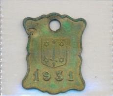 Nederland - Haarlem 1931  - Hundemarke - Dog Tax Tag- Médaille De Chien - Hondenpenning - Unclassified
