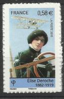Adhésifs PRO Autocollants** MNH   N° 485 Elise Deroche Aviatrice Avion - Sellos Autoadhesivos