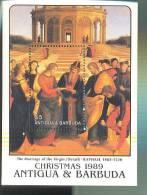 ANTIGUA & BARBUDA  1272 MINT NEVER HINGES STAMPS OF CHRISTMAS  1989 - Christendom