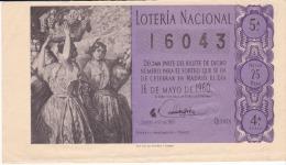 Billete De 1960  Floreal Fragmento De Pinazo - Billetes De Lotería