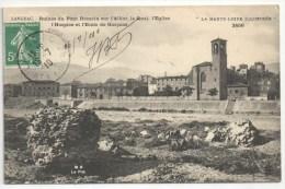 43 - LANGEAC - Ruines Du Pont Romain Sur L'Allier, Le Quai, L'Eglise, L'Hospice Et L'Ecole De Garçons - MB 2456 - Langeac