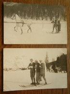 Photo Send To PRINCE D' ARENBERG Paris 1913 ( Ski / Horse / Winter / Royal - Zie Foto's (2) Voor DETAILS ) ! - Célébrités
