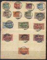 Haute-Silésie N° 33-47 Sur Feuille Obitératon Hindenburg 20/03/1921 - Coordination Sectors