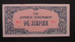 Myanmar - 1/4 Rupee - 1942 - P 12a - Unc - Look Scan - Myanmar