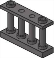 Lego 30055 Barrière Fence Spindled 1 X 4 X 2  DkStone - Lego System