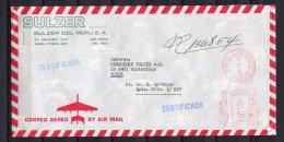 Peru, Lima, (Sulzer Peru) 1982, EMA, Freistempel, - Peru
