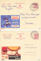 Enghien 1966  &  Meulebeke - Enteros Postales