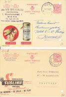 Mere 1965  &  Meulebeke - Enteros Postales