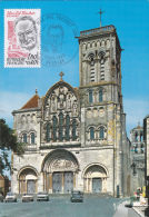 Carte-Maximum FRANCE N° Yvert 2282 (VEZELAY - Basilique) Obl Sp Ill (Ed Valoire 31511) - Maximum Cards