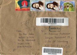 BANGLADESH  Enveloppe With Diff.stamps - Bangladesh