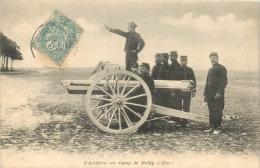 L'ARTILLERIE AU CAMP DE MAILLY FEU CANON - Manovre