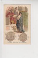 Chromo Moka Leroux Histoire Générale Des Monnaies Monnaie Empire Romain - Thé & Café