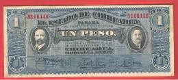 MEXICO - 1 PESO 1914 Estado De Chiuaua - Mexico