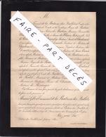 Faire-part Décès M. Gilbert-Emmanuel DE LA BOUTRESSE DES QUILLETS, Château Des Quillets, 1884 - Esquela