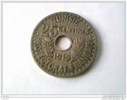25 Centimes 1919 - TUNISIE - Protectorat  Français - Superbe - - Tunisia
