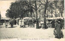NORD 59.CAMBRAI COIN DU MARCHE DE LA PLACE AU BOIS - Cambrai