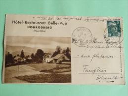Carte Lettre De L'Hotel Restaurant BELLE VUE  DE HOHRODBERG - Otros Municipios