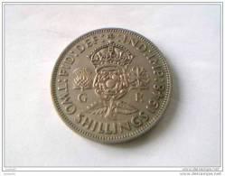 2 Shillings 1948 - GEORGES VI - GRANDE-BRETAGNE - TTB - - 1902-1971 : Monnaies Post-Victoriennes