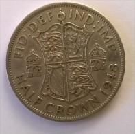 1/2 Crown 1948 - GEORGES VI - GRANDE-BRETAGNE - TTB - - 1902-1971 : Monnaies Post-Victoriennes