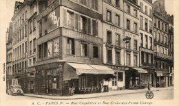 Paris 1er - Rue Coquillière Et Rue Croix Des Petits Anges. Café, Hotel.... - Arrondissement: 01