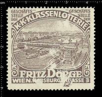 Old Original German Poster Stamp (cinderella,reklamemarke ) Lottery - Fritz Doerge Ship Schiff Steamship Dampfschiffe - Ships
