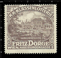 Old Original German Poster Stamp (cinderella,reklamemarke ) Lottery - Fritz Doerge Stadtpark Wien City Park Vienna - Erinnophilie