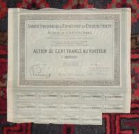 INDOCHINE Action 100 Francs SOCIETE INDUSTRIELLE D'EXPORTATION EN EXTREME ORIENT 1922 - Asie