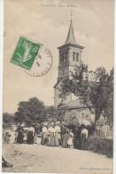 CPA 88 SAINTE BARBE Eglise Sortie De La Messe Animation 1913 - Non Classificati