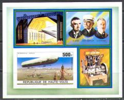 1546 Aviation Zeppeline Airs Upper Volta S/s MNH ** Imperf Imp - Zeppelins