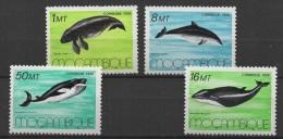Mozambique (1986) Yv. 1037/40  /  Whales - Balenes - Ballenas - Marine Fauna - Walvissen