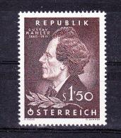 AUSTRIA   1960 , Gustav Mahler - Componist  , Y&T  #  919 , Cv  1.25 E ,  ** M N H , V V F - 1945-60 Nuovi & Linguelle