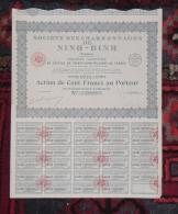 INDOCHINE SOCIETE DES CHARBONNAGES DE NINH-BINH Action De 100 Francs TONKIN 1929 - Asie