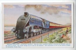 """Cpsm """" British Railways - Scottish Region - Locomotive GRESLEY A4 Streamline Pacific Class"""" TBE Non Circulé - Eisenbahnen"""