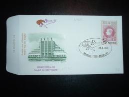 LETTRE BELGICA 72 TP 7F + 3F OBL. 24-6-1972 BRUSSEL-1020-BRUXELLES + PALAIS DU CENTENAIRE - FDC