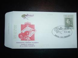LETTRE BELGICA 72 TP 15F + 7F OBL. 24-6-1972 BRUSSEL-1020-BRUXELLES + CHAPELLE MUSICALE DE LA REINE ELISABETH - FDC