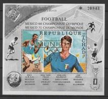 Tchad (1971) Mi. Bl. 21  /  Soccer - Futbol - Calcio - Football - FIFA World Cup Mexico - Olympic Games Munich 1972 - Wereldkampioenschap