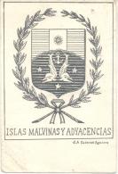 ISLAS MALVINAS Y ADYACENCIAS - RARISIMA EDITOR J. A. CODAZZI AGUIRRE TOP CARTE TOP COLLECTION CIRCA 1930 - Falkland Islands