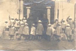 MONJES COPTOS MONOFISITAS - ESCUELA DE NIÑAS - ETIOPIA  ABISINIA 1900s Rare - Ethiopië