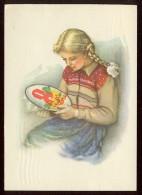 Stationery Card 1961 Mail Used USSR RUSSIA Needlework Scissors Children Child Threads Painting Propaganda - 1923-1991 USSR