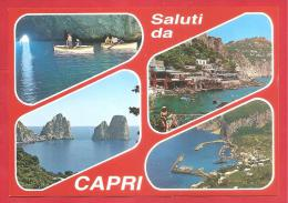 CARTOLINA NV ITALIA - CAPRI (NA) - Saluti - Vedute - Multipla - 10 X 15 - PERFETTA - Saluti Da.../ Gruss Aus...