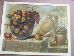PHOTOGRAPHIE D OEUVRE D ART PITTURA POMPEIANA COUPE FRUIT AMPHORE POMPEI Jacques LECONTE Blois MARZARI Italie 29cmx22cm - Autres Collections