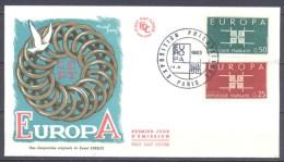Europa 1963 France FDC Enveloppe Premier Jour YT N°1396/1397 (Exposition Philatélique Paris) - Europa-CEPT