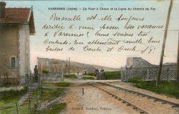 36 - INDRE - VARENNES - Le Four à Chaux Et La Ligne De Chemin De Fer - Très Bon état - 1911 - 2 Scans - France
