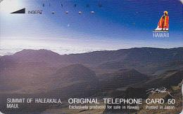 Télécarte Japon / 110-29220 - Site - HAWAII / Série Logo ROI - VOLCAN HALEAKALA  - VULCAN Japan Phonecard USA Rel.- 89 - Volcans